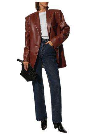 Женский жакет из экокожи NANUSHKA коричневого цвета, арт. EVAN_BRICK_VEGAN LEATHER | Фото 2