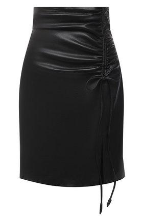 Женская юбка из экокожи NANUSHKA черного цвета, арт. Z0W_BLACK_VEGAN LEATHER | Фото 1