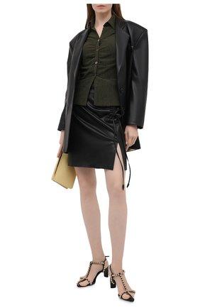 Женская юбка из экокожи NANUSHKA черного цвета, арт. Z0W_BLACK_VEGAN LEATHER | Фото 2