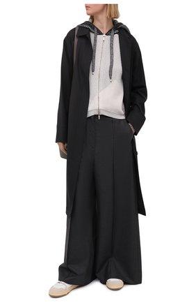 Женский кардиган LORENA ANTONIAZZI серого цвета, арт. P21114FM008/2559 | Фото 2