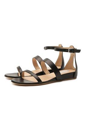 Женские кожаные сандалии GABRIELA HEARST черного цвета, арт. 2218348 SN003   Фото 1