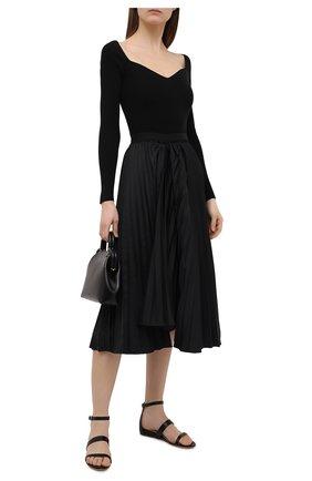 Женские кожаные сандалии GABRIELA HEARST черного цвета, арт. 2218348 SN003   Фото 2