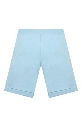 Детские хлопковые шорты KARL LAGERFELD KIDS голубого цвета, арт. Z24108   Фото 2