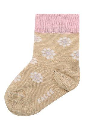 Детские хлопковые носки FALKE бежевого цвета, арт. 12988. | Фото 1