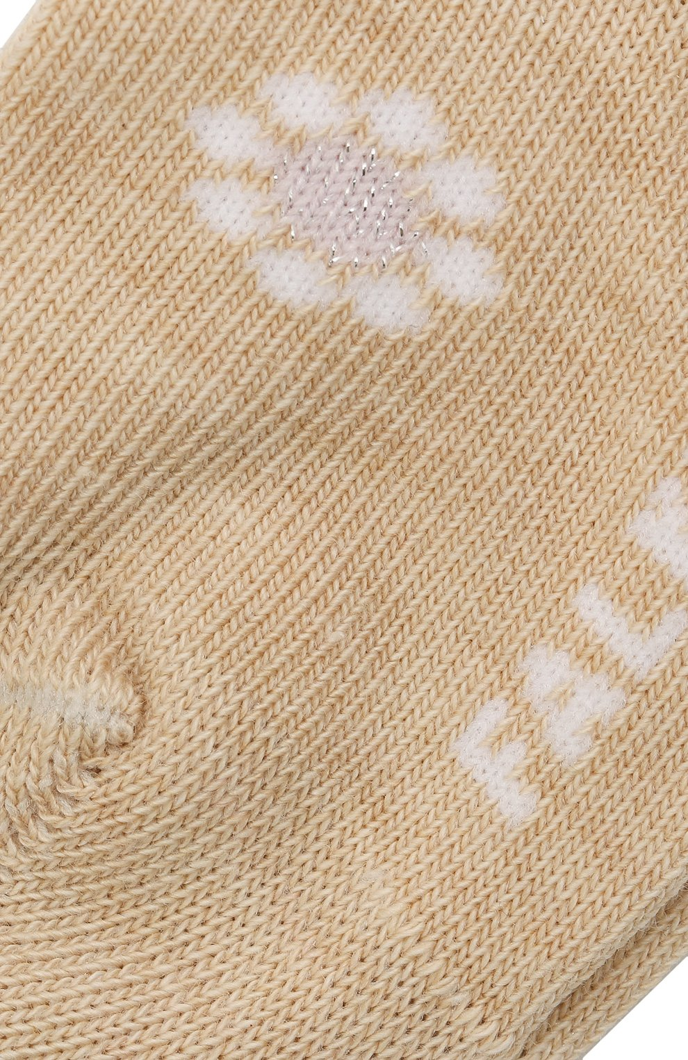 Детские хлопковые носки FALKE бежевого цвета, арт. 12988. | Фото 2 (Материал: Текстиль, Хлопок)