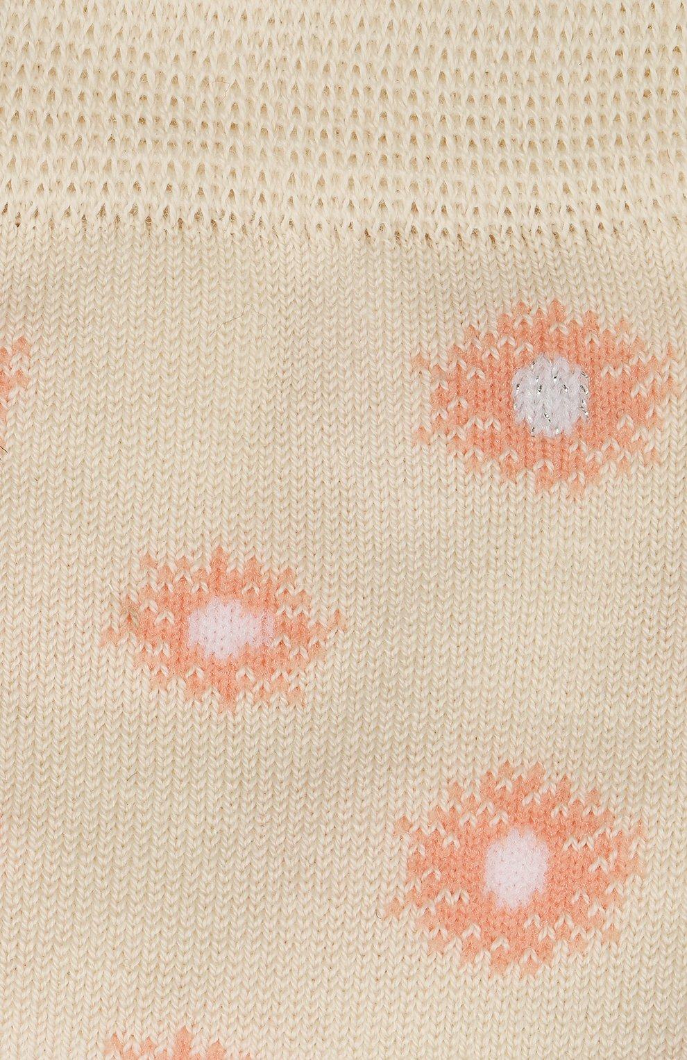 Детские хлопковые носки FALKE бежевого цвета, арт. 12972.   Фото 2 (Материал: Текстиль, Хлопок)