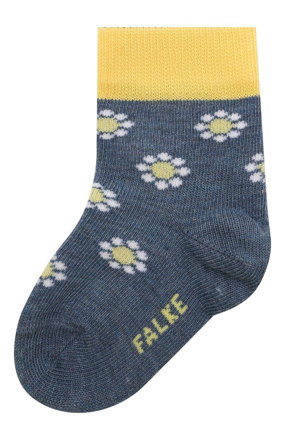 Детские хлопковые носки FALKE синего цвета, арт. 12988. | Фото 1 (Материал: Текстиль, Хлопок)