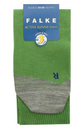 Детские носки FALKE зеленого цвета, арт. 10663. | Фото 1