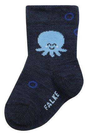 Детские хлопковые носки FALKE темно-синего цвета, арт. 12986. | Фото 1