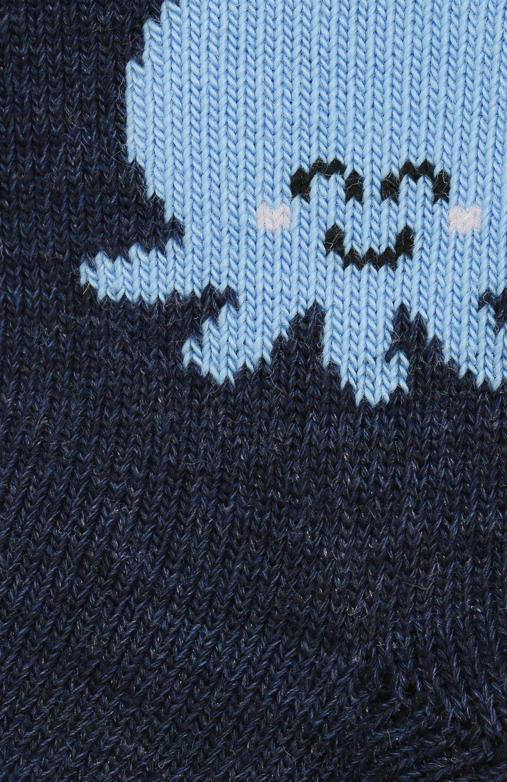 Детские хлопковые носки FALKE темно-синего цвета, арт. 12986. | Фото 2 (Материал: Текстиль, Хлопок)