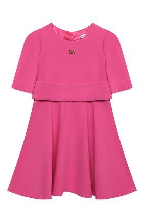 Детское платье DOLCE & GABBANA фуксия цвета, арт. L52DS3/FURDV/2-6 | Фото 1 (Рукава: Короткие; Материал подклада: Вискоза; Материал внешний: Вискоза, Синтетический материал; Девочки Кросс-КТ: Платье-одежда; Ростовка одежда: 2 года | 92 см, 3 года | 98 см, 4 года | 104 см, 5 лет | 110 см, 6 лет | 116 см)