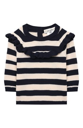 Детский хлопковый пуловер LES LUTINS PARIS темно-синего цвета, арт. 21E019/S0NIA | Фото 1