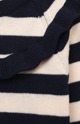 Детский хлопковый пуловер LES LUTINS PARIS темно-синего цвета, арт. 21E019/S0NIA | Фото 3