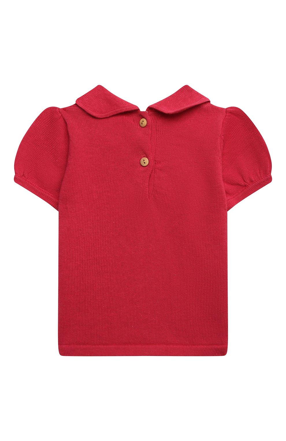 Детский хлопковый пуловер LES LUTINS PARIS фуксия цвета, арт. 21E049/AIDA   Фото 2