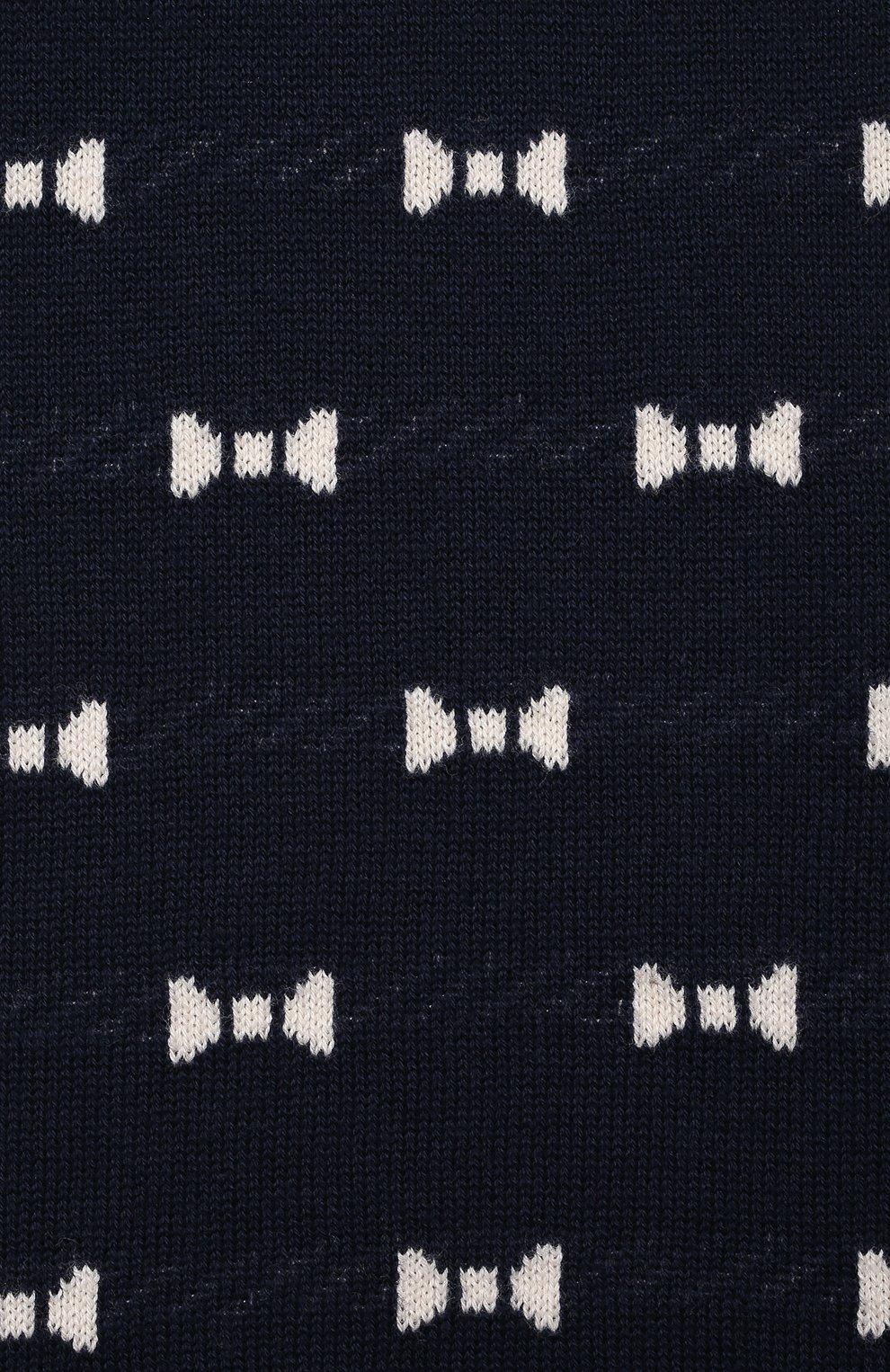 Детское хлопковый комбинезон LES LUTINS PARIS темно-синего цвета, арт. 21E052/R0SE | Фото 3