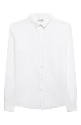 Детская рубашка из хлопка и льна PAOLO PECORA MILANO белого цвета, арт. PP2703/14A-16A   Фото 1