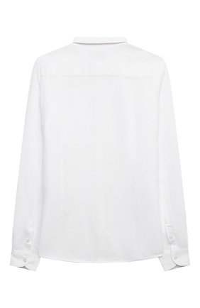 Детская рубашка из хлопка и льна PAOLO PECORA MILANO белого цвета, арт. PP2703/14A-16A   Фото 2