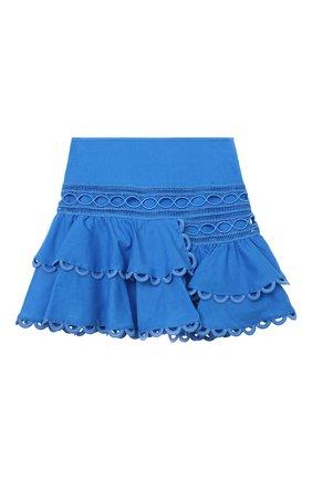Детская хлопковая юбка CHARO RUIZ IBIZA голубого цвета, арт. 2141/4-8 | Фото 1
