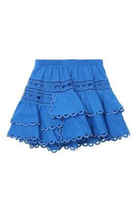 Детская хлопковая юбка CHARO RUIZ IBIZA голубого цвета, арт. 2141/4-8 | Фото 2