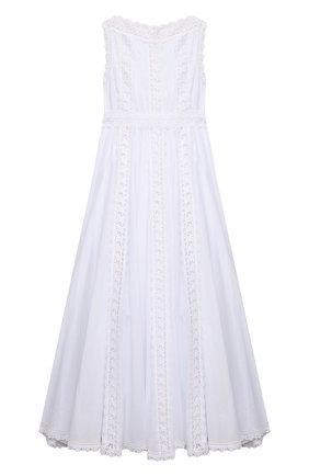 Детское хлопковое платье CHARO RUIZ IBIZA белого цвета, арт. 0043 | Фото 1