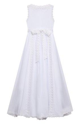 Детское хлопковое платье CHARO RUIZ IBIZA белого цвета, арт. 0043 | Фото 2