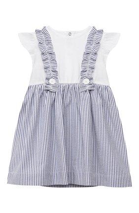 Женский хлопковое платье IL GUFO голубого цвета, арт. P21VM453C1057/12M-18M | Фото 1