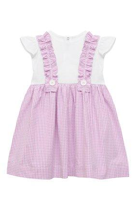 Женский хлопковое платье IL GUFO сиреневого цвета, арт. P21VM453C1057/12M-18M | Фото 1