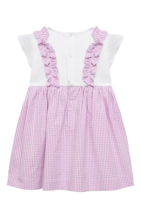 Женский хлопковое платье IL GUFO сиреневого цвета, арт. P21VM453C1057/12M-18M | Фото 2
