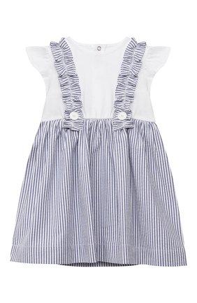 Женский хлопковое платье IL GUFO голубого цвета, арт. P21VM453C1057/24M | Фото 1