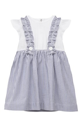 Женский хлопковое платье IL GUFO голубого цвета, арт. P21VM453C1057/3M-9M | Фото 1