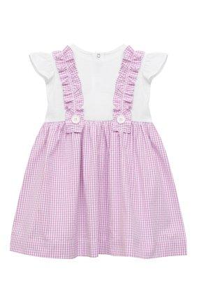 Женский хлопковое платье IL GUFO сиреневого цвета, арт. P21VM453C1057/3M-9M | Фото 1
