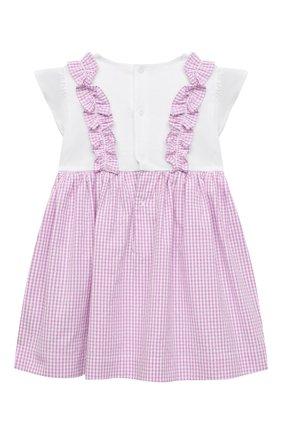 Женский хлопковое платье IL GUFO сиреневого цвета, арт. P21VM453C1057/3M-9M | Фото 2