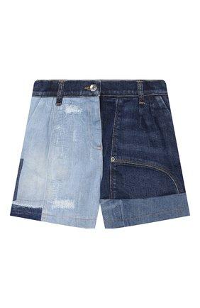 Детские джинсовые шорты DOLCE & GABBANA разноцветного цвета, арт. L52Q77/G7YRF/8-14   Фото 1 (Материал внешний: Хлопок; Девочки Кросс-КТ: Шорты-одежда; Материал подклада: Вискоза; Ростовка одежда: 10 - 11 лет   140 - 146см, 12 лет   152 см, 8 лет   128 см)