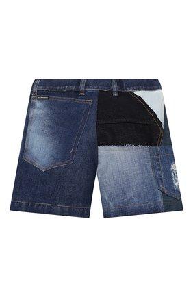 Детские джинсовые шорты DOLCE & GABBANA разноцветного цвета, арт. L52Q77/G7YRF/8-14   Фото 2 (Материал внешний: Хлопок; Девочки Кросс-КТ: Шорты-одежда; Материал подклада: Вискоза; Ростовка одежда: 10 - 11 лет   140 - 146см, 12 лет   152 см, 8 лет   128 см)