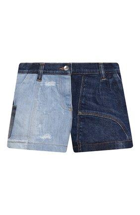 Детские джинсовые шорты DOLCE & GABBANA разноцветного цвета, арт. L52Q77/G7YRF/2-6   Фото 1 (Материал подклада: Вискоза; Девочки Кросс-КТ: Шорты-одежда; Материал внешний: Хлопок; Ростовка одежда: 2 года   92 см, 3 года   98 см, 4 года   104 см, 5 лет   110 см, 6 лет   116 см)
