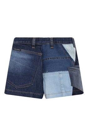 Детские джинсовые шорты DOLCE & GABBANA разноцветного цвета, арт. L52Q77/G7YRF/2-6   Фото 2 (Материал подклада: Вискоза; Девочки Кросс-КТ: Шорты-одежда; Материал внешний: Хлопок; Ростовка одежда: 2 года   92 см, 3 года   98 см, 4 года   104 см, 5 лет   110 см, 6 лет   116 см)