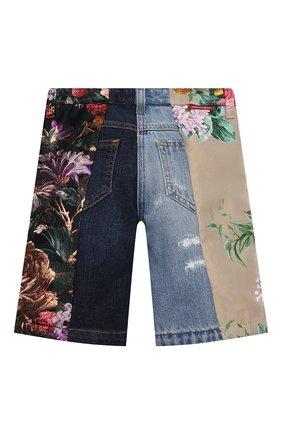 Детские джинсовые шорты DOLCE & GABBANA разноцветного цвета, арт. L52F25/G7YPQ/2-6   Фото 2 (Девочки Кросс-КТ: Шорты-одежда; Материал внешний: Хлопок, Синтетический материал; Материал подклада: Вискоза; Ростовка одежда: 2 года   92 см, 3 года   98 см, 4 года   104 см, 5 лет   110 см, 6 лет   116 см)