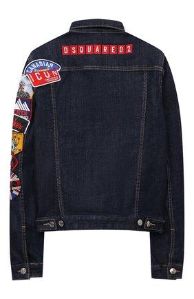 Детского джинсовая куртка DSQUARED2 синего цвета, арт. DQ0341-D006L | Фото 2