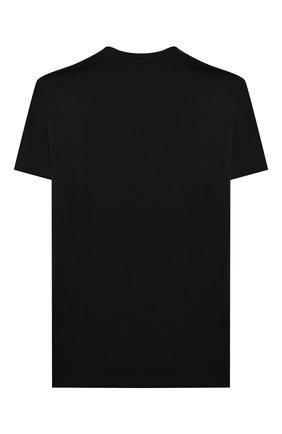 Детская хлопковая футболка DSQUARED2 черного цвета, арт. DQ0340-D00MV | Фото 2