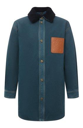 Мужская джинсовая куртка LOEWE синего цвета, арт. H526Y05W13 | Фото 1