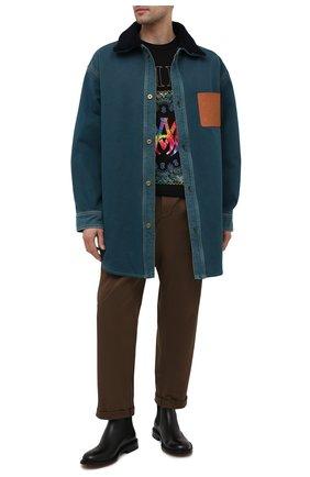 Мужская джинсовая куртка LOEWE синего цвета, арт. H526Y05W13 | Фото 2