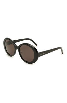Женские солнцезащитные очки SAINT LAURENT черного цвета, арт. SL 419 001   Фото 1