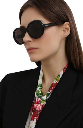 Женские солнцезащитные очки SAINT LAURENT черного цвета, арт. SL 419 001   Фото 2