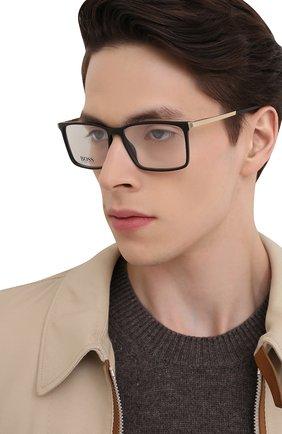 Мужские оправа BOSS черного цвета, арт. 1251 003 | Фото 2 (Оптика Гендер: оптика-мужское; Тип очков: Оправа; Очки форма: Прямоугольные)