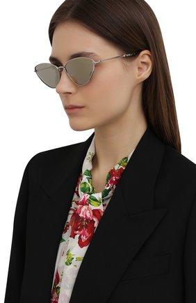 Женские солнцезащитные очки MISSONI серебряного цвета, арт. MIS0053 010 | Фото 2