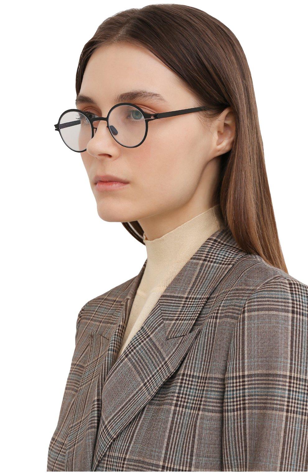 Женские оправа MYKITA черного цвета, арт. GETZ/BLACK/CLEAR 002 | Фото 2 (Очки форма: Круглые; Тип очков: Оправа; Оптика Гендер: оптика-унисекс)