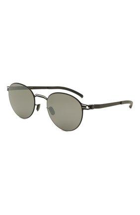 Женские солнцезащитные очки MYKITA черного цвета, арт. CARL0/BLACK/WHITE/MIRR0R BLACK 363 | Фото 1 (Тип очков: С/з; Оптика Гендер: оптика-унисекс; Очки форма: Круглые)