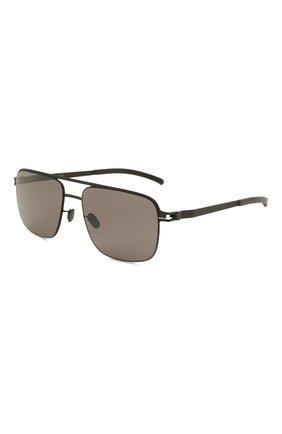Женские солнцезащитные очки MYKITA черного цвета, арт. WILDER/BLACK/P0LPR0 HIC0N GREY 002 | Фото 1 (Оптика Гендер: оптика-унисекс; Тип очков: С/з; Очки форма: Прямоугольные)