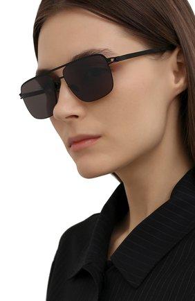 Женские солнцезащитные очки MYKITA черного цвета, арт. WILDER/BLACK/P0LPR0 HIC0N GREY 002 | Фото 2 (Оптика Гендер: оптика-унисекс; Тип очков: С/з; Очки форма: Прямоугольные)