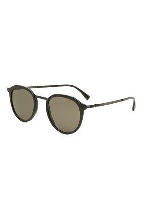 Женские солнцезащитные очки MYKITA черного цвета, арт. PAULS0N/BLACK/BLACK/GREY S0LID 909 | Фото 1 (Тип очков: С/з; Оптика Гендер: оптика-унисекс; Очки форма: Круглые)